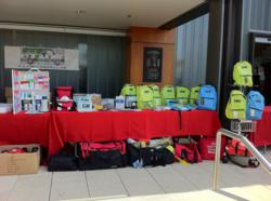 First Aid Global displays emergency preparedness kits at Shake Out LA in Westwood