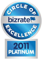2011 Bizrate Circle of Excellence Platinum Award