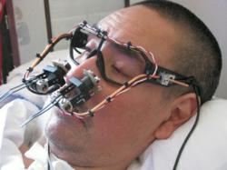 The Eyewriter can be created for very low-cost, using a YouTube tutorial video, a pair of eyeglasses and a digital camera.