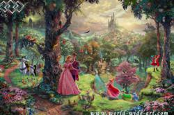 Sleeping Beauty - Thomas Kinkade - Disney Dreams Collection - World-Wide-Art.com
