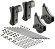 Ladder hardware incorporates seamless construction and a premium black satin finish.