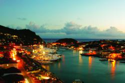 Gustavia Harbor St Barth night