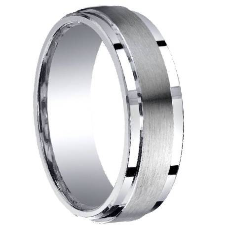 Mens Designer Silver Wedding Ring
