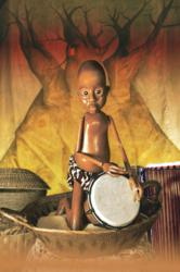 Baobab combines African music with puppetry, drumming song and shadow theater.