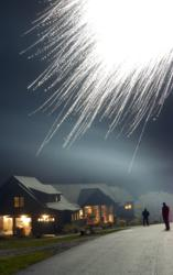 Fireworks display over home at Meredith Bay