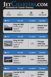 jet charter application