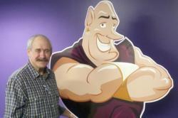Mike Best, Window Genie Window Cleaning St. Louis County, Mo., stand with Genie Joe