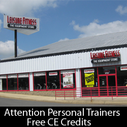 Washington DC Personal Trainers can get 3 Free Continuing Education Credits from Leisure Fitness