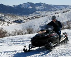 Snowmobiling in Montrose, Colo.