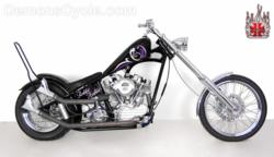 Rabbit Habbit 57 Panhead Chopper by Demon's Cycle