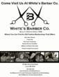 White's Barber Co. Flyer