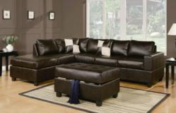 Sacramento Espresso Leather Sectional