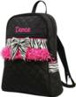 Dance bag backpack perfect for ballet and other dance shoes and supplies.  Can be personalized.