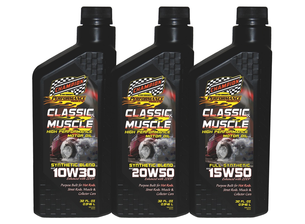 Purpose Built Hot Rod Classic And Muscle Car Motor Oils