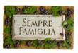 Sempre Famiglia, Family Forever Italian sign