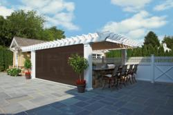 Phantom Screens feature in Shade pergola system from Walpole