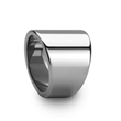 Flat Polished Finish Tungsten Ring with Asymmetrical Widths