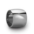 Domed Polished Finish Tungsten Wedding Band - 20 mm