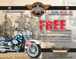DAV at MotorCity H-D on Nov. 5th & 6th