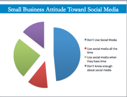 Almost half of businesses don't use social media - only 12% use all the time.