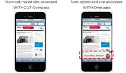 Mobile ads with Overpass vs. without Overpass