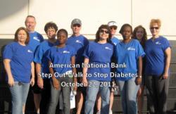 The American National Bank team participated in the 2011 Step Out Walk to Stop Diabetes