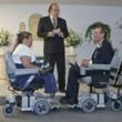 Hoveround power chair cutomers get married