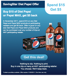 Diet Pepsi and Pepsi MAX deal