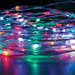 Celebright LED Holiday Lights in Multi-Color with Silver Wire