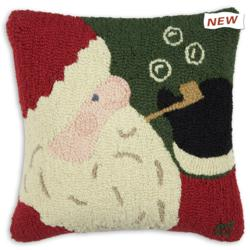 "Bubble Pipe Santa 18"" Pillow"
