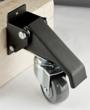 The casters are ruggedly constructed out of durable steel and have a satin black finish