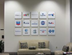 Transforming lobby walls with signage
