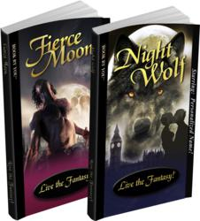 Personalized romance books - Fierce Moon for adults and Night Wolf for teens.
