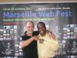 """Marseille Webfest Founder Jean-Michel Albert and LAWEBFEST Founder Michael Ajakwe Jr at the Marseille Webfest in the south of France, October 2011"""