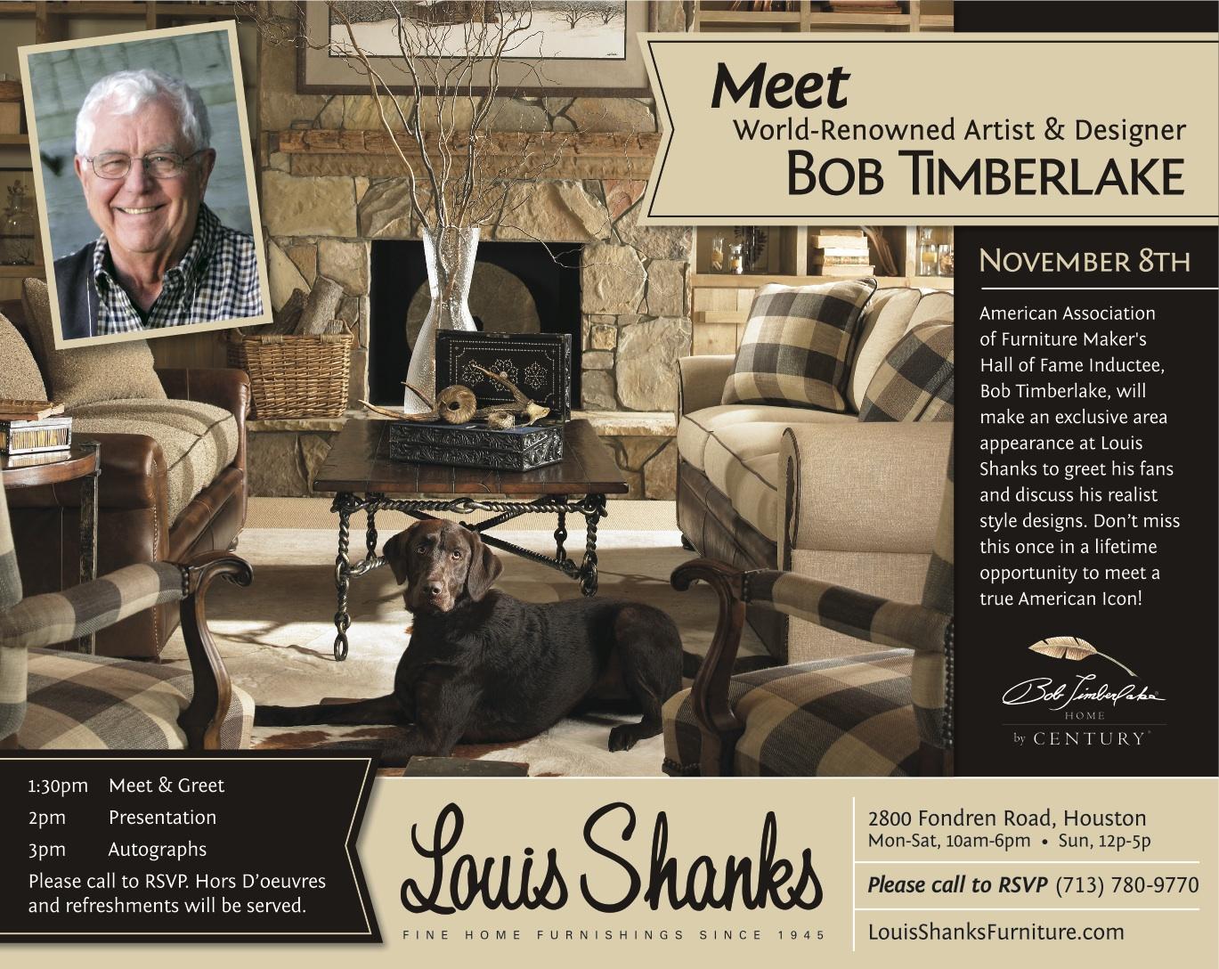 Bob Timberlake To Speak At Louis Shanks In Houston