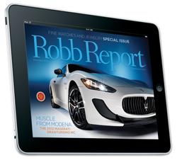 Robb Report iPad Digital Magazine