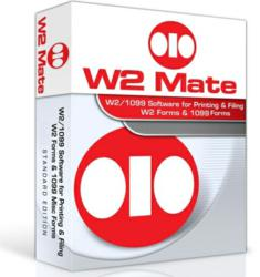 W2 Mate can print and E-File QuickBooks W2 and 1099 Forms