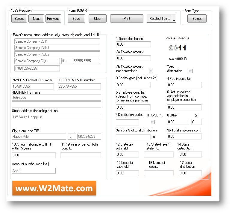 Form 1099-R Electronic Filing: 2014 W2 Mate® Software Introduces ...