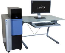 The Aquila is a compact SEM with optical microscope and fully automated stage
