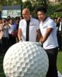 Dr. Allen Zeeman joked he would need the world's largest golf ball to play over Dr. Ken Chu