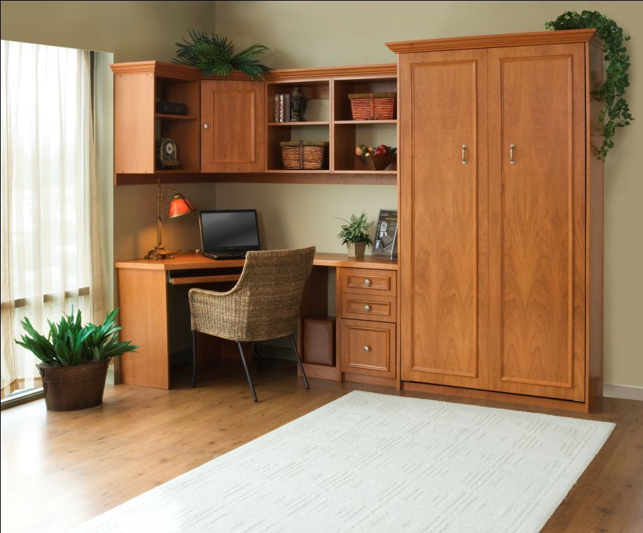 Murphy Bed With Home Office : Living larger in less space using products from the early