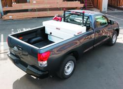 Saddle Box and Transfer tank on a Toyota Tundra