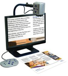 Optelec MultiView is a transportable, multipurpose CCTV ideal for document reading, distance viewing and self viewing