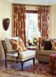 Interlined window treatment in Kalah/Spice from CurtainsMade4U.com