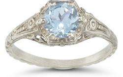 Aquamarine Rings