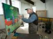 Joe Lasker in his studio