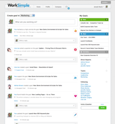 WorkSimple Social Performance Dashboard
