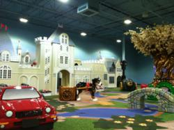 Soft indoor play area features PLAYTIME playground equipment
