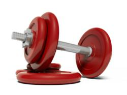 red barbell