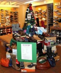 Pedestrian Shops' Comfortable Shoe Tree